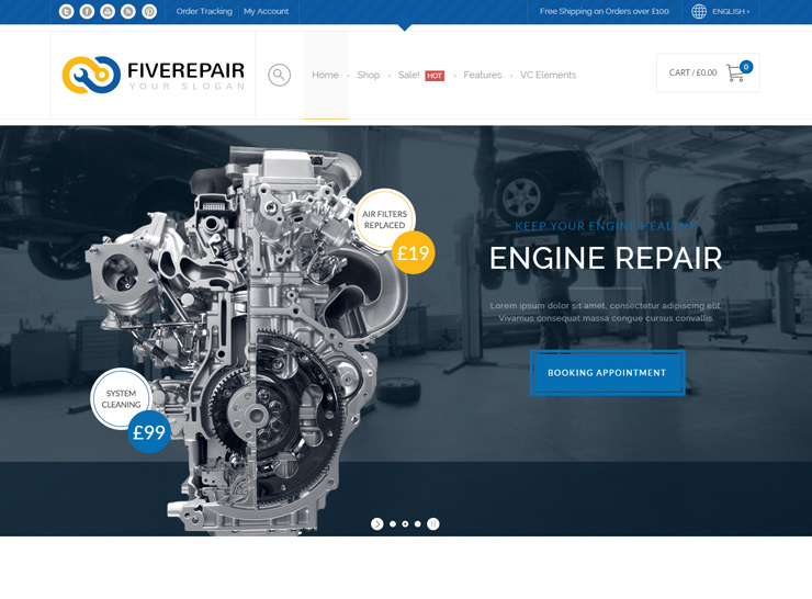 Car Mechanic WordPress Themes