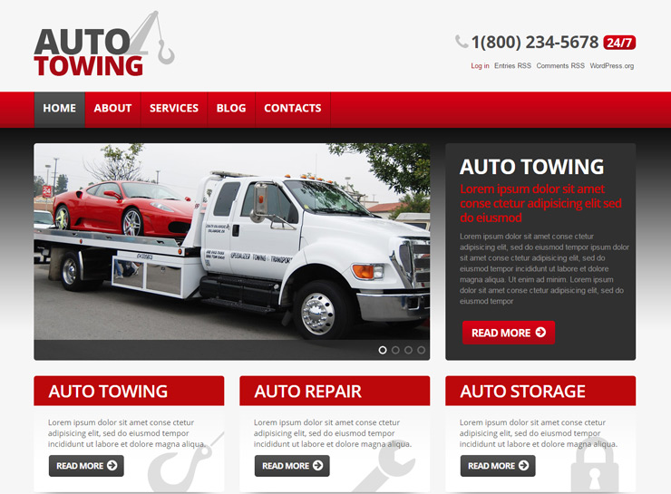 Auto Towing Car Repair Theme
