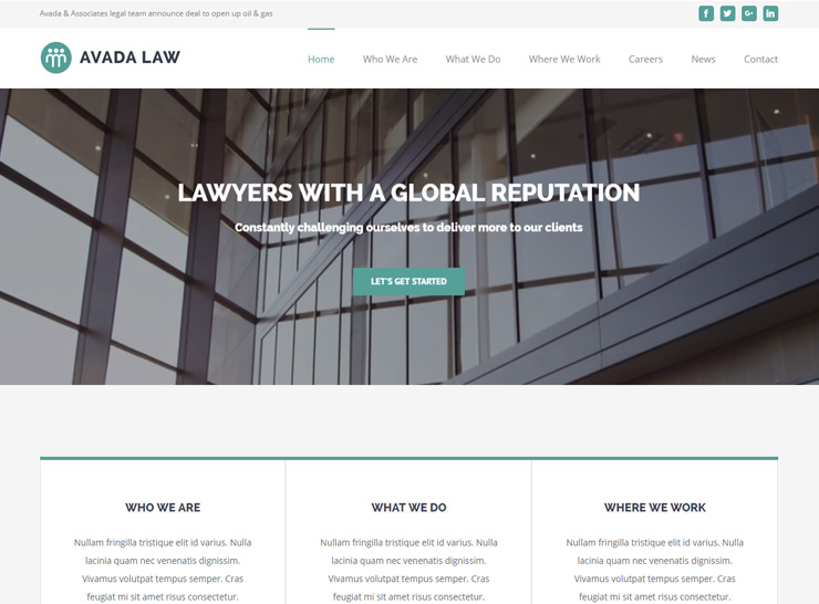 Avada - Lawyer WordPress Theme