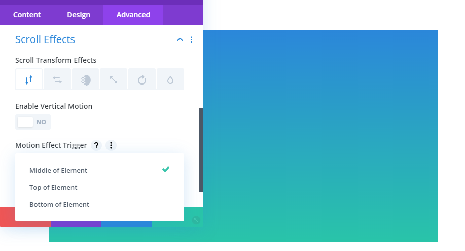 Adding scrolling effects to a Divi module.