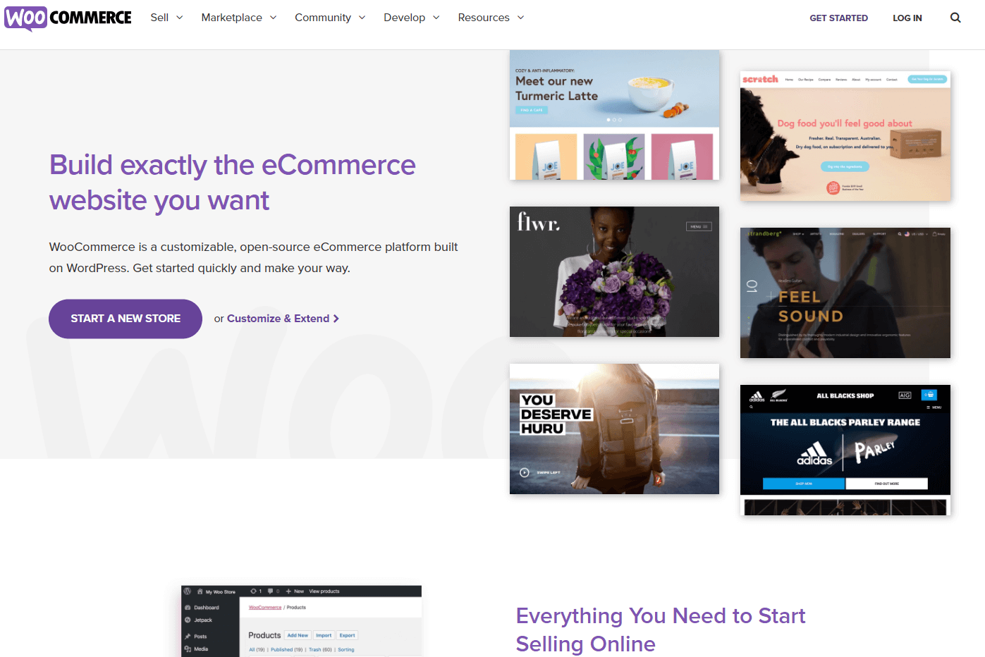 The WooCommerce plugin home page.