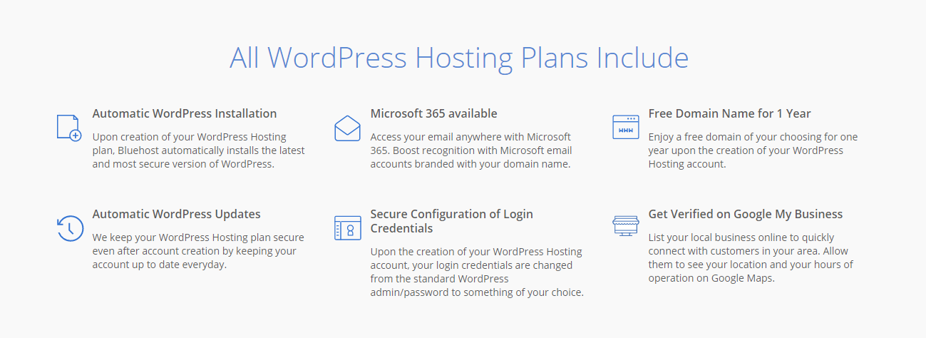 Bluehost hosting shared plans extras.