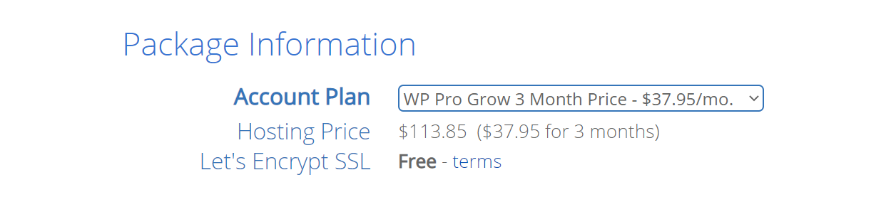 WP Pro's contract prices and lengths.