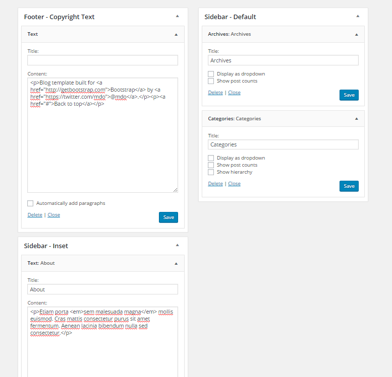 How to Develop a WordPress Theme Using Bootstrap - Part 2