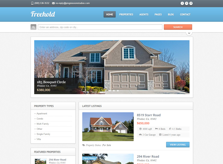 15 Best Responsive Real Estate WordPress Themes Of 2017