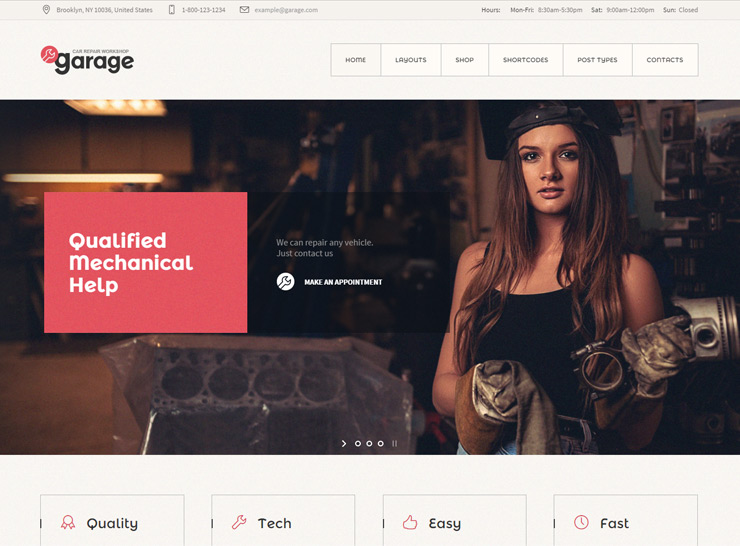 Garage - Auto Service WordPress Theme