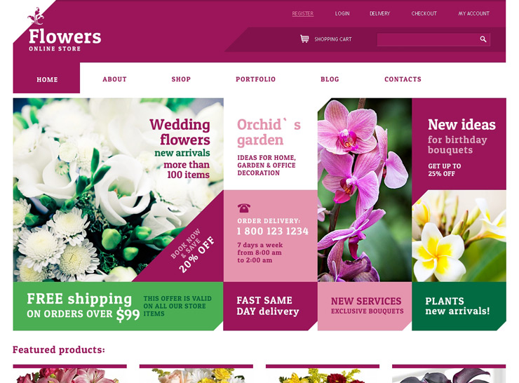 30 Best Flower Shop WordPress Themes 30 | title | flowers web