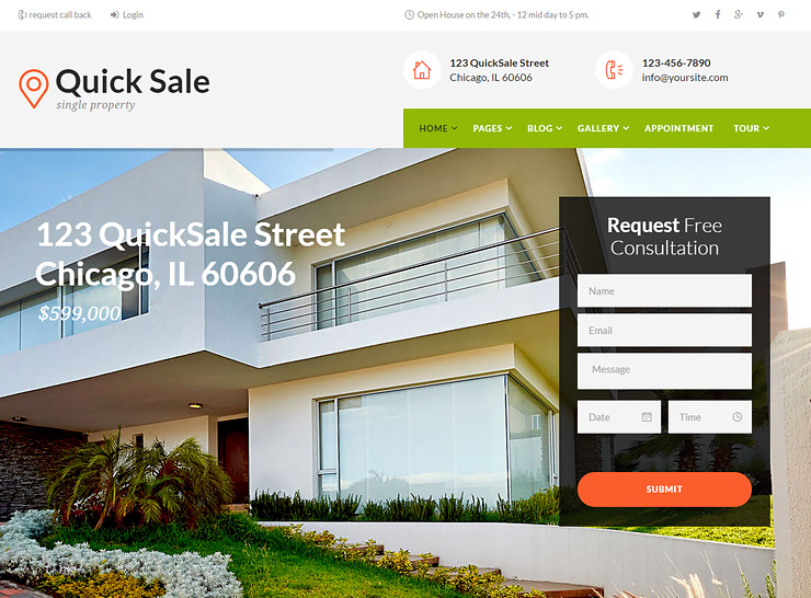 10+ Best Professional Single Property WordPress Themes 2017