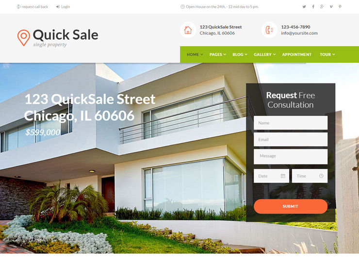 Quick Sale - Single Property Real Estate Theme