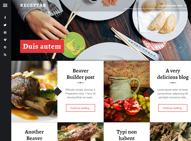Receptar - Food Blog Theme
