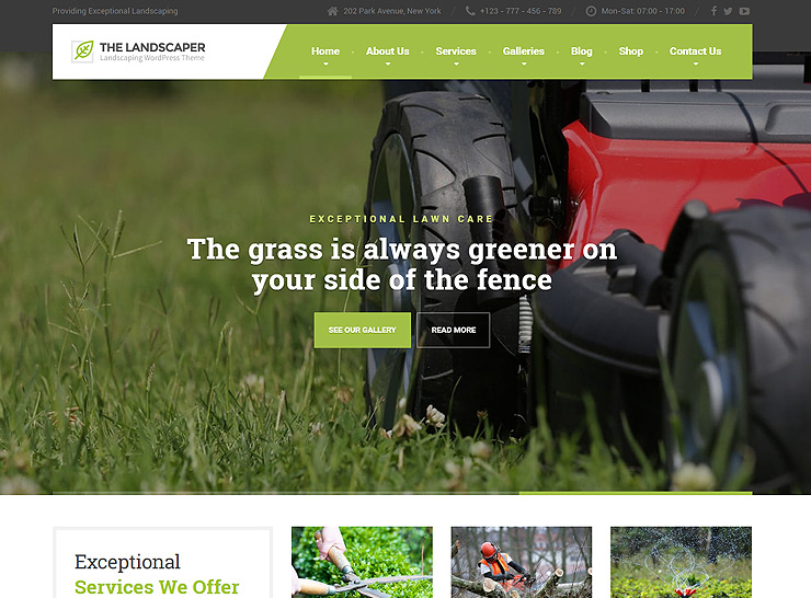 10+ Best Gardening and Landscaping WordPress Themes 2017
