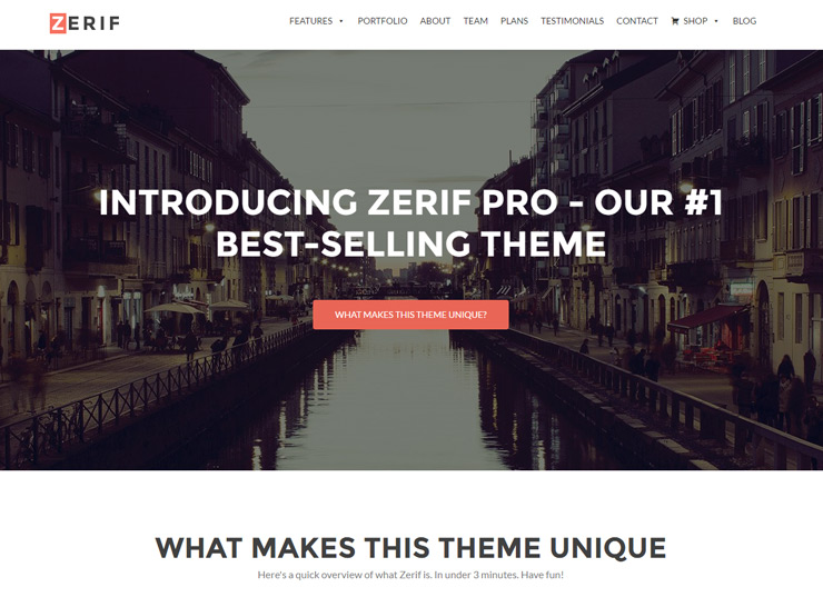 Minimal One Page WordPress Themes
